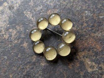 つぶつぶの輪ブローチ | skinの画像