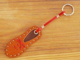 靴型のキーホルダー BR×DBR #1-1 (イタリアンレザー)の画像
