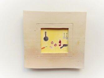 「カレーライスの日」イラスト原画 ※陶器の額縁入りの画像