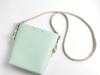 折りバケットショルダー #ミント /ori bucket shoulder #mintの画像