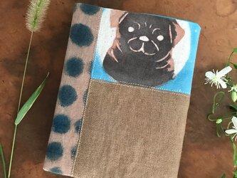 イヌのブックカバーbの画像