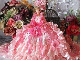 ベルサイユの薔薇 スウィートピンクビスチェドレスガウントレーン2Wayドールドレス 豪華4点セットの画像