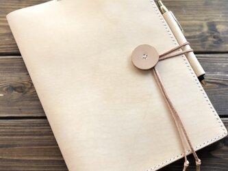 【本革/手縫い  ヌメ革 ノートカバー B5サイズ】の画像