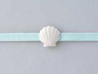 白磁の帯留・貝の画像
