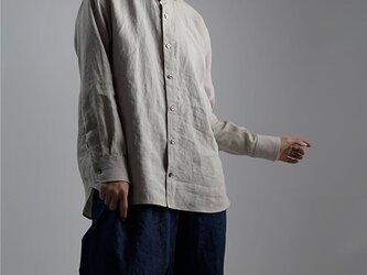 【wafu】Linen Shirt ショールカラー シャツ /亜麻ナチュラル t036b-amn1の画像