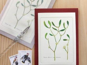 ヤドリギのカード&レター (2通セット) の画像