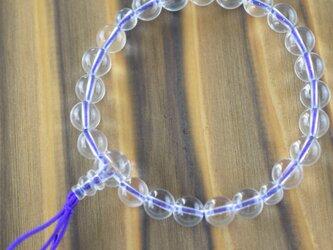 水晶 クリスタル 腕輪 ブレスレット 数珠 天然石 パワーストーン 京都 UD16の画像