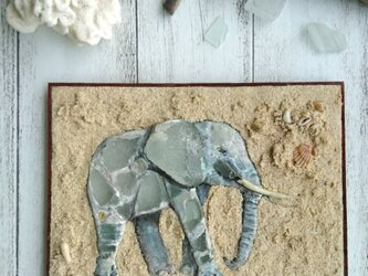 Seaglass Walldecoration ゾウの画像