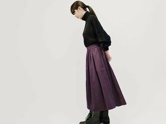 実りをまとう秋の コーデュロイ グレープ ロングスカート コットン ●KYLIE-GRAPE●の画像