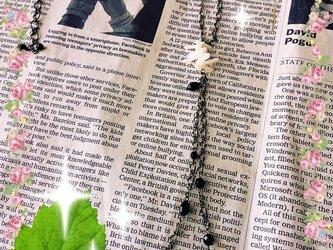 ☆シックなblack long necklace☆の画像