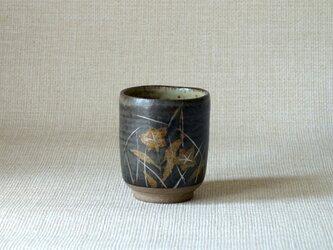 銀彩秋草湯呑(a)の画像
