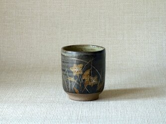 銀彩秋草湯呑(c)の画像