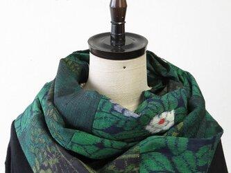 Y様ご予約品*アンティーク着物*手織り紬のパッチスヌードの画像