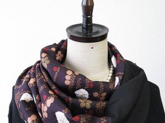 *アンティーク着物*花模様絞り模様着物のパッチスヌードの画像