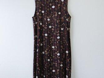 M様ご予約品*アンティーク着物*花模様絞り着物のワンピース(Lサイズ)の画像