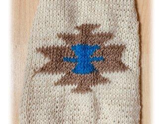 [オーガニックウール・秋冬] ネイティブ・オルテガのセーター(小型犬用・胴回り33)【オーダー可】の画像