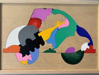 木のパズル「動物パズル ワーゲン」の画像