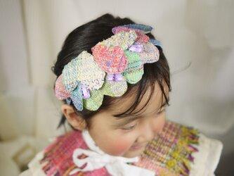 手織り ハートのヘッドドレスの画像