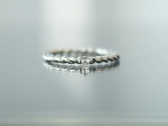 【受注製作】PT950 ブリオレットカットダイヤモンド・ツイストリングの画像