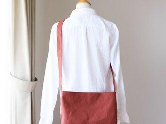 レンガ 倉敷産帆布使用ショルダーM【受注製作】の画像
