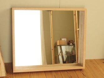 「ayusanさまご注文品」 はこ鏡 タモ材の画像