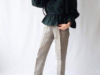 【Mサイズ 刺繍プルオーバー】Emma / Greenの画像