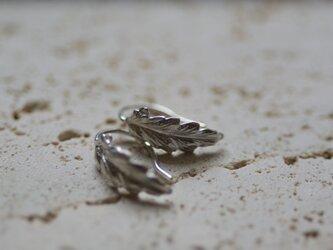 【charm】silver leaf pierce 3の画像