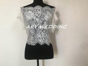 大人気上昇 半袖 オフショル お花柄レース ウエディングドレス ボレロ プリンセスライン 花嫁 結婚式 挙式の画像