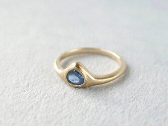 K18 Sapphire ring/drop/blueの画像