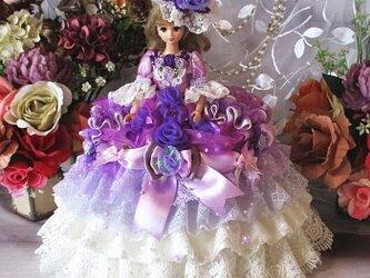エリザベスの薔薇 ロマンスバイオレットのグラデーションボリューミープリンセスドレスの画像