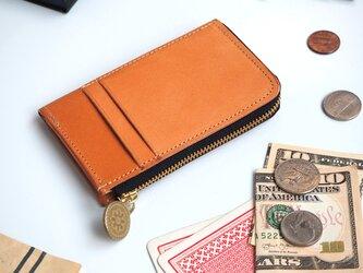 L字ファスナー フラグメントケース(ビスケット ベージュ)パス カード ミニ財布の画像