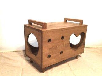 【受注制作】猫家具ベンチボックスの画像