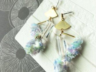 イヤリングカラー調耳飾り (ピアス)水蜜桃 ※イヤリング付け替え可の画像