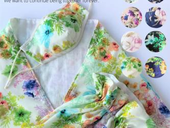 春装 布マスク付ストール風ポンチョ 全8色の画像