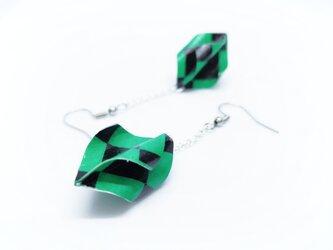 オリガミピアス・螺旋 Origami Earrings Screw(z01r2i)の画像