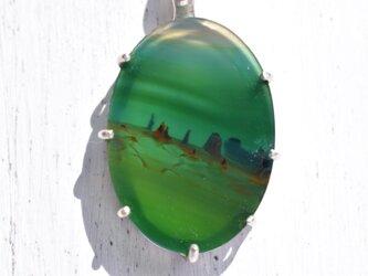 ピクチャーアゲートのネックレスの画像