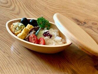 楕円型弁当箱 木曽檜 楕円型ボウルがお弁当箱に!の画像