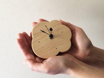 小さなくもの壁掛け/置き時計|メープル無垢材の画像