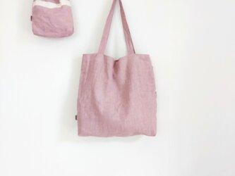肩掛けトートbag & 巾着  グレイッシュピンクの画像