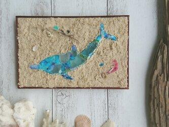 Seaglass & Plasticwaste Walldecoration イルカの画像