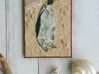 Seaglass walldecoration オウサマペンギンの画像