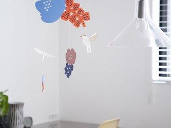 モビール:花とハチドリーHummingbirdーの画像