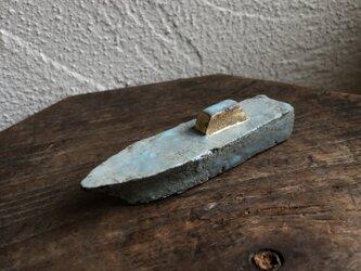 オブジェ 緑青 「船」の画像