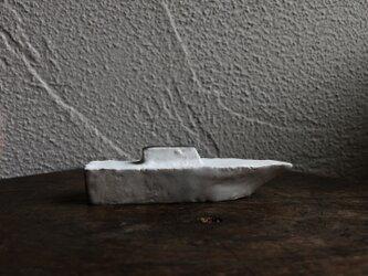 陶のオブジェ 骨白 「船」の画像