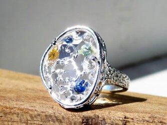 サファイア&クォーツ リング * Sapphire and Quartz Ring bの画像