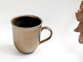 :無名異焼のマグカップ:黄金(丸型)の画像
