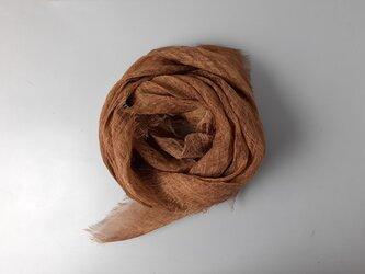 linen shawl #柿渋染〈濃〉の画像
