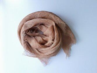 linen shawl #柿渋染〈淡〉の画像