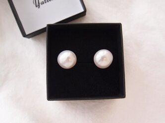 大粒バロックパールのイヤリング14mm/Baroque pearl・largeの画像
