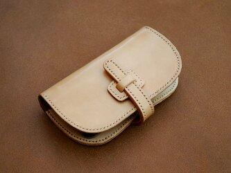 本革サドルレザースマホウォレット フラップ 財布【受注製作】の画像